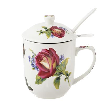 Чайный сервиз MILLIMI Коппелия (кружка, ситечко, ложка, крышка), костяной фарфор - 1