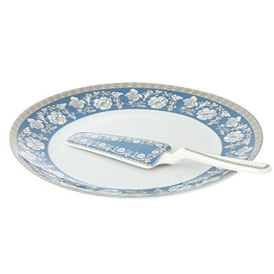 Набор для торта 2 предмета Савойя (блюдо, лопатка), фарфор - 1
