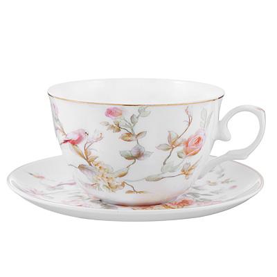 Чайный сервиз 4 предмета MILLIMI Ангела 250мл, тонкий фарфор - 1
