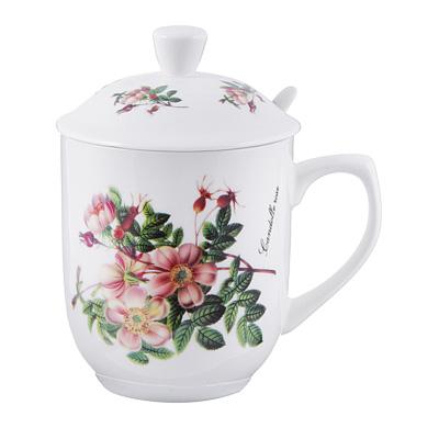 Чайный сервиз MILLIMI Ивона (кружка, ситечко, ложка, крышка), костяной фарфор - 1