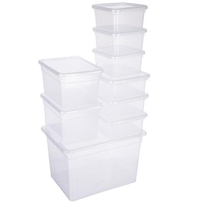 Набор ящиков для хранения с крышками Basic 20л-1шт;5л-2шт;3л-3шт;2л-3шт, пластик - 1