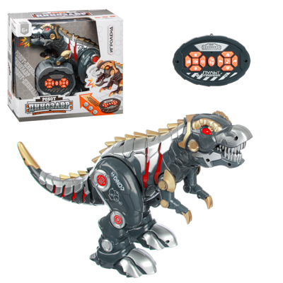 ИГРОЛЕНД Робот-динозавр на пульте упр., ИК, свет, звук, движ., 5ААА, ABS, 33х17х30см - 1