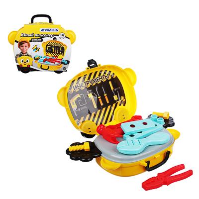 ИГРОЛЕНД Игровой набор в чемодане, 9-17 пр., пластик, 22х15,7х7,2см, 5 дизайнов - 1