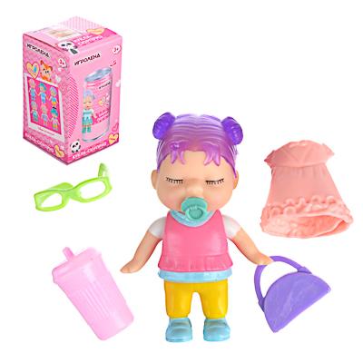 ИГРОЛЕНД Кукла-сюрприз в банке, пластик, 6,3х11см, 6-12 дизайнов - 1