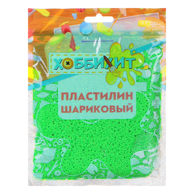 ХОББИХИТ Пластилин шариковый, полистирол, 19х14х1см, 55-60гр, 6-10 цветов - 1