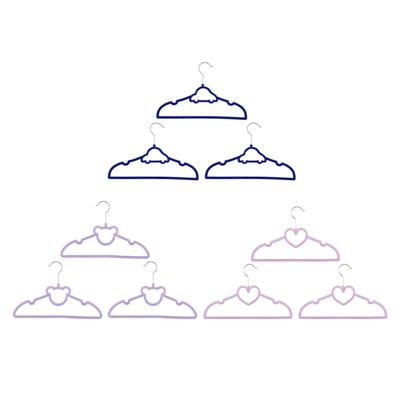 VETTA Набор вешалок детских, 3шт, с покрытием флок, 3 дизайна - 1