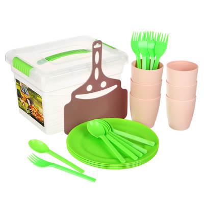 Набор посуды для пикника на 6 персон, 26 предметов, пластик - 1