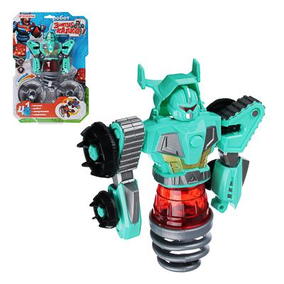 """ИГРОЛЕНД Игрушка """"запускалка"""" в виде трансформирующ. робота,волчок, диск, свет, ABS, 21,6х30х5см - 1"""