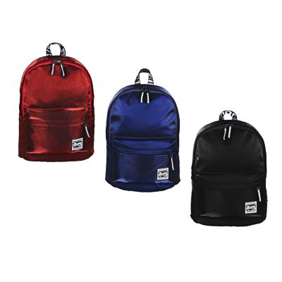 """Рюкзак подростковый, 41x31x11,5см, 1 отд, 3 кармана, уплотненные лямки, """"сияющий"""" нейлон, 3 цвета - 1"""