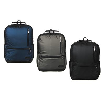 Рюкзак подростковый, 39,5x28x11см, 1 отд, 4 карм, многослойный водоотталк.нейлон, иск.кожа, 3 цвета - 1