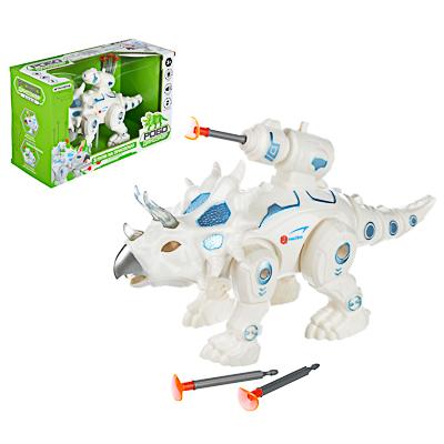 ИГРОЛЕНД Робо-динозавр боевой , свет, звук, движ., 2АА, ABS, 26х16,5-19х10см , 2 дизайна - 1
