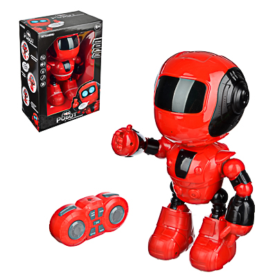 ИГРОЛЕНД Игрушка в виде робота программ. ABS, свет, звук, движ., 2АА, ЗУ/АКБ, 24х15,5х37,5 см - 1