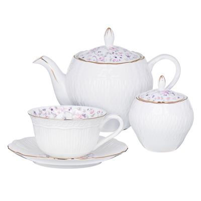 MILLIMI Пастораль Набор чайный 14 пр., чашка 250мл, чайник 900мл, сахарница 280 мл, кост. фрф - 1