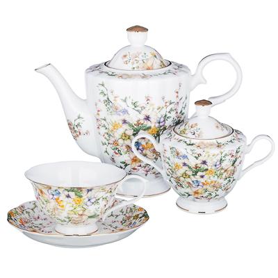 MILLIMI Версаль Набор чайный 14 пр., чашка 240мл, чайник 1350мл, сахарница 400мл, кост. фрф - 1