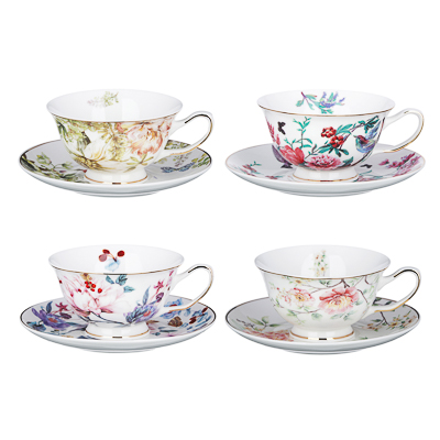 MILLIMI Волшебные цветы Набор чайный 2 пр., 220мл, костяной фарфор, 4 дизайна - 1