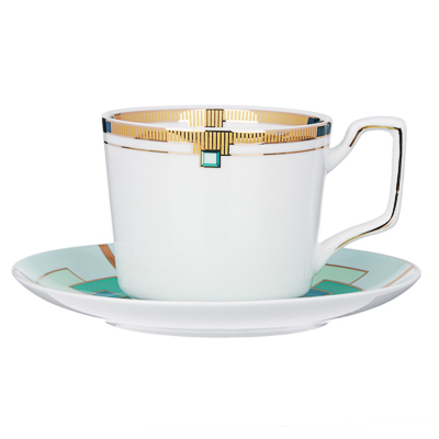 MILLIMI Изумруд Набор чайный 12 пр., 260мл, костяной фарфор - 1
