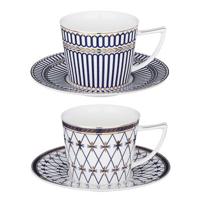 MILLIMI Граф Монте-Кристо Набор чайный 2 пр., 250мл, костяной фарфор, 2 дизайна - 1