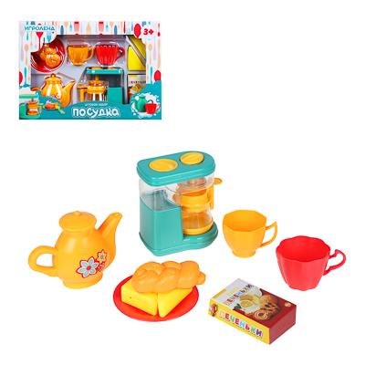 ИГРОЛЕНД Игровой набор Посудка, пластик, 9-11 пр., 35х24х7 см, 3 дизайна - 1