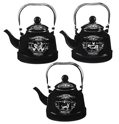 VETTA Ранчо Чайник эмалированный 2,5 л, 3 дизайна, индукция - 1