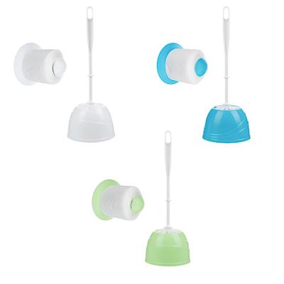 """Набор для туалета 2 пр. """"Классика"""" (ёрш, держатель для туалетной бумаги), пластик, 3 цвета - 1"""