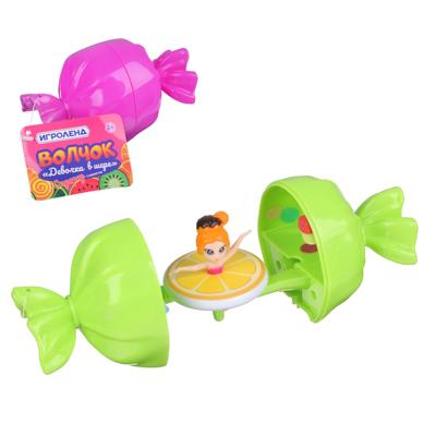 ИГРОЛЕНД Волчок девочка в шаре, ABS, 12,5х6,5х6,5см, 6 дизайнов - 1