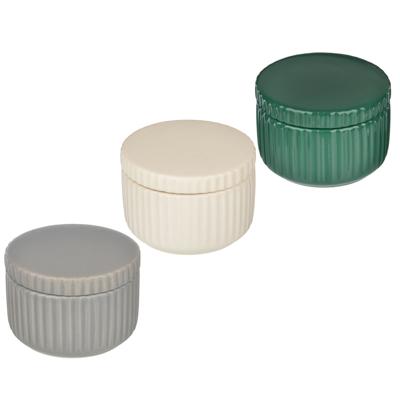 """VETTA Контейнер для ватных дисков/палочек """"Вертикаль"""", керамика, 3 цвета - 1"""