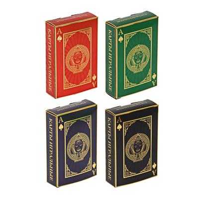 Карты игральные, пластиковые с фольгированным слоем, 54 карты, 4 цвета