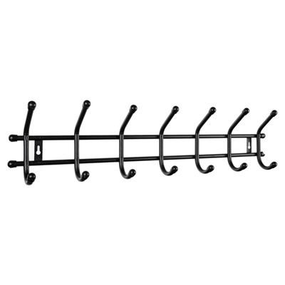 Вешалка настенная Уют 7 7 крючков, металл, черная, арт.ВНУ72 вешалка настенная sheffilton грация 790 черная 7 крючков