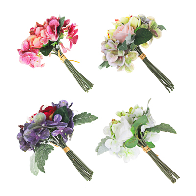 LADECOR Букет декоративный с орхидеями, 27см, полиэстер, пластик, 4 цвета