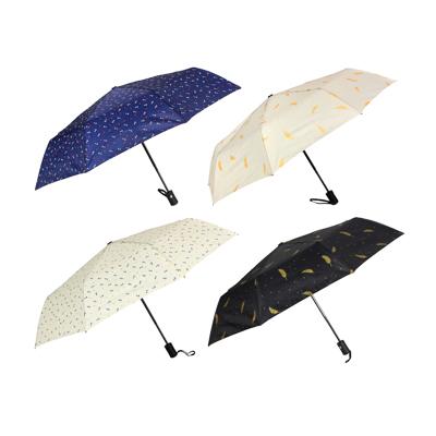 Зонт женский, автомат, пластик, сплав, полиэстер, 53,5см, 8 спиц, 3 цвета - 1
