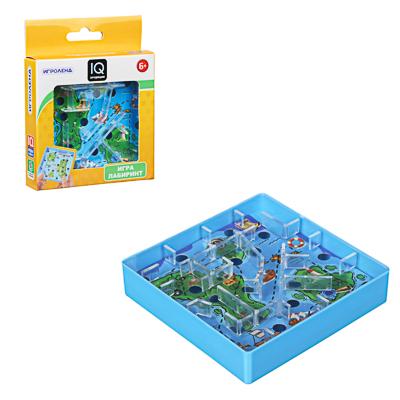ИГРОЛЕНД Игры в дорогу мини лабиринт, пластик, 10х10х2,1см, 3 дизайна - 1