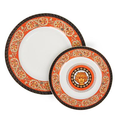 Рыжий Набор тарелок 2 предмета (27см, 20см), костяной фарфор, подарочная упаковка - 1