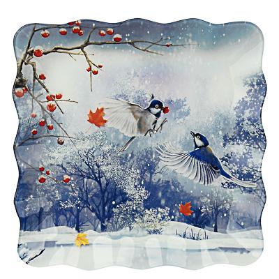 Зимушка-зима Блюдо квадратное 25х2см, стекло - 1