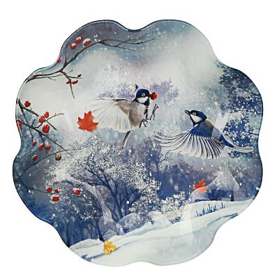Зимушка-зима Салатник круглый 23х4,5см, стекло - 1