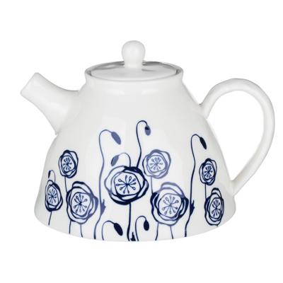 MILLIMI Индиго Чайник заварочный, 1100мл, 19,5х16х13,5см, керамика - 1