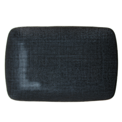 MILLIMI Блэк Джинс Блюдо прямоугольное, 27,5х18х2см, керамика - 1