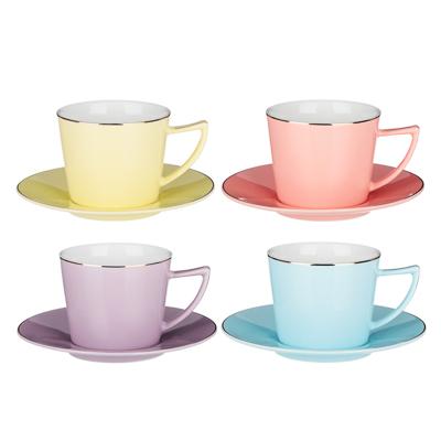 MILLIMI Радуга Набор чайный 2 пр., 250мл, 15см, костяной фарфор, 4 цвета - 1