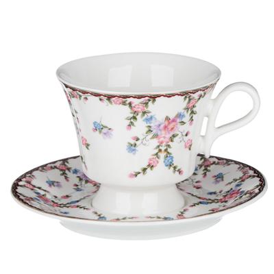 MILLIMI Роза Набор чайный 12 пр., 220мл, 15см, костяной фарфор - 1