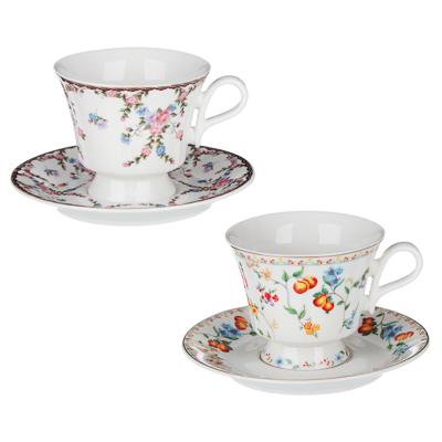 MILLIMI Розовая весна Набор чайный 2 пр., 220мл, 15см, костяной фарфор, 2 дизайна - 1