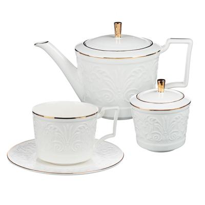 MILLIMI Да Винчи Набор чайный 14 пр., чашка 270мл, 15см, чайник 1050мл, сахарница 300мл, кост. фрф - 1