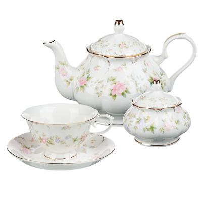 MILLIMI Вуаль Набор чайный 14 пр., чашка 240мл, 15см, чайник 1250мл, сахарница 310мл, кост. фрф - 1