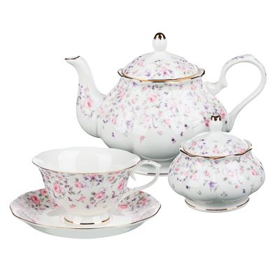 MILLIMI Грезы Набор чайный 14 пр., чашка 240мл, 15см, чайник 1250мл, сахарница 310мл, кост. фрф - 1
