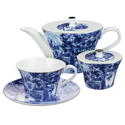 MILLIMI Дивный лес Набор чайный 14 пр., чашка 270мл, 16см, чайник 650мл, сахарница 230мл, кост. фрф - 1