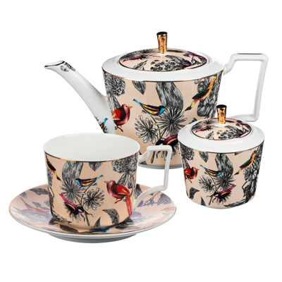 MILLIMI Очарование Набор чайный 14 пр., чашка 300мл, 15см, чайник 1200мл, сахарница 350мл, кост.фрф - 1