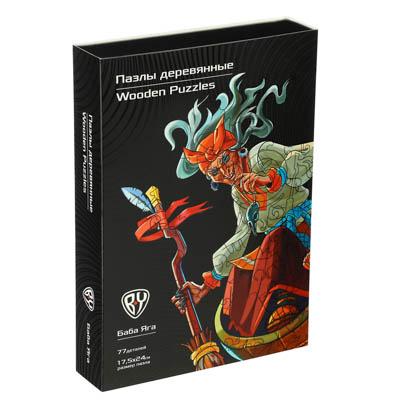 BY Пазл деревянный-игры в дорогу, 18х12х3,4см, фанера, картон, 4 дизайна - 1