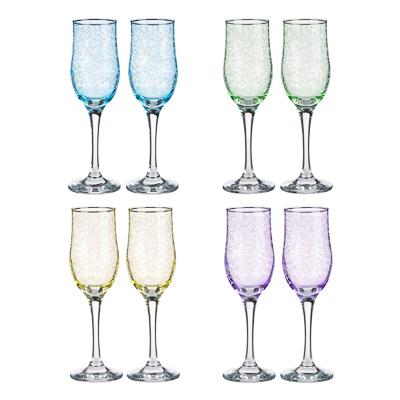 Набор бокалов 2шт для шампанского, 200 мл, с гравировкой, 4 цвета - 1