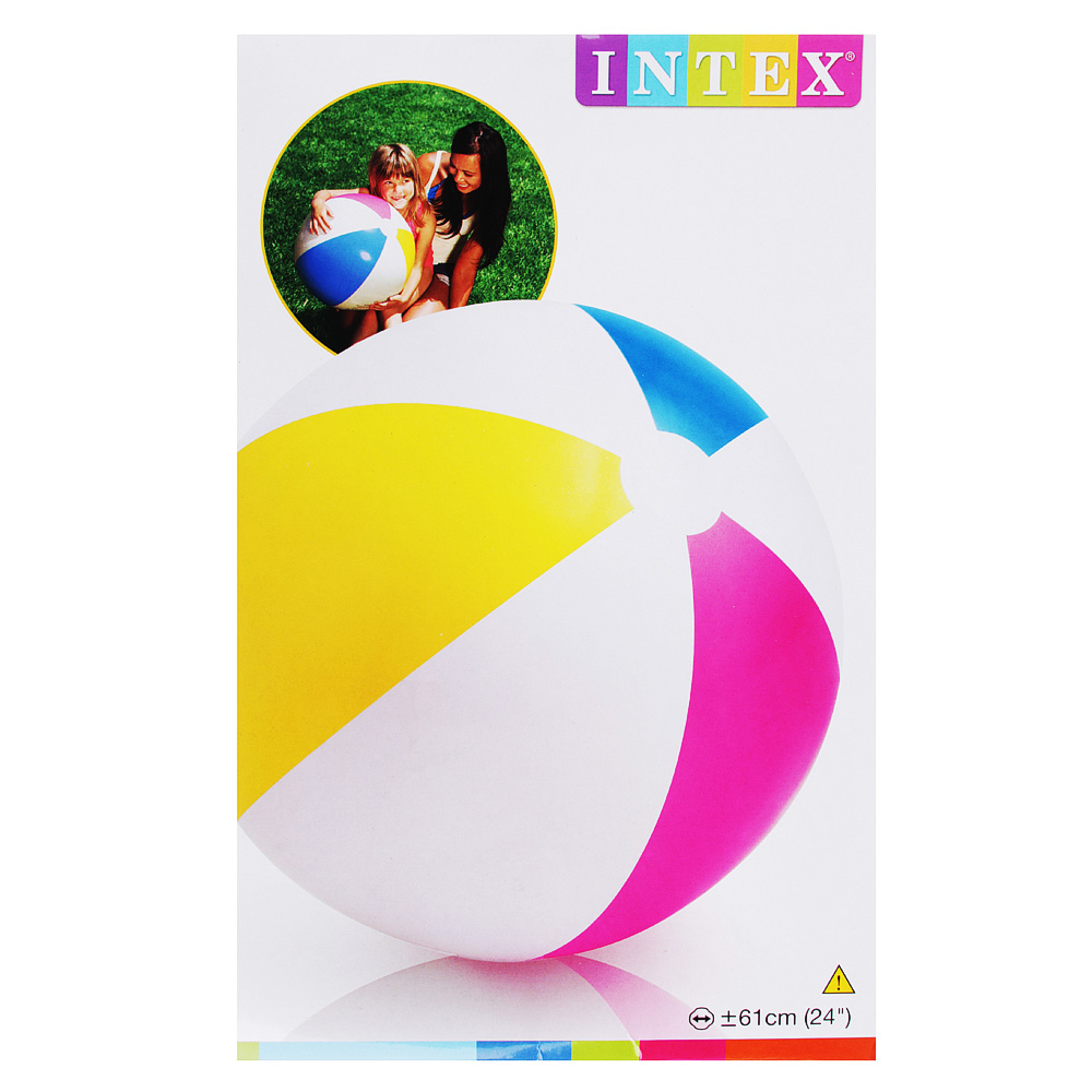 Надувной мяч INTEX 59030 Дольки d. 61 см - 3
