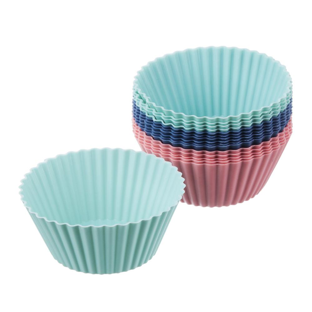 Набор форм для выпечки VETTA Кекс, 16 шт, 6.5x3,3 см, силикон - 2
