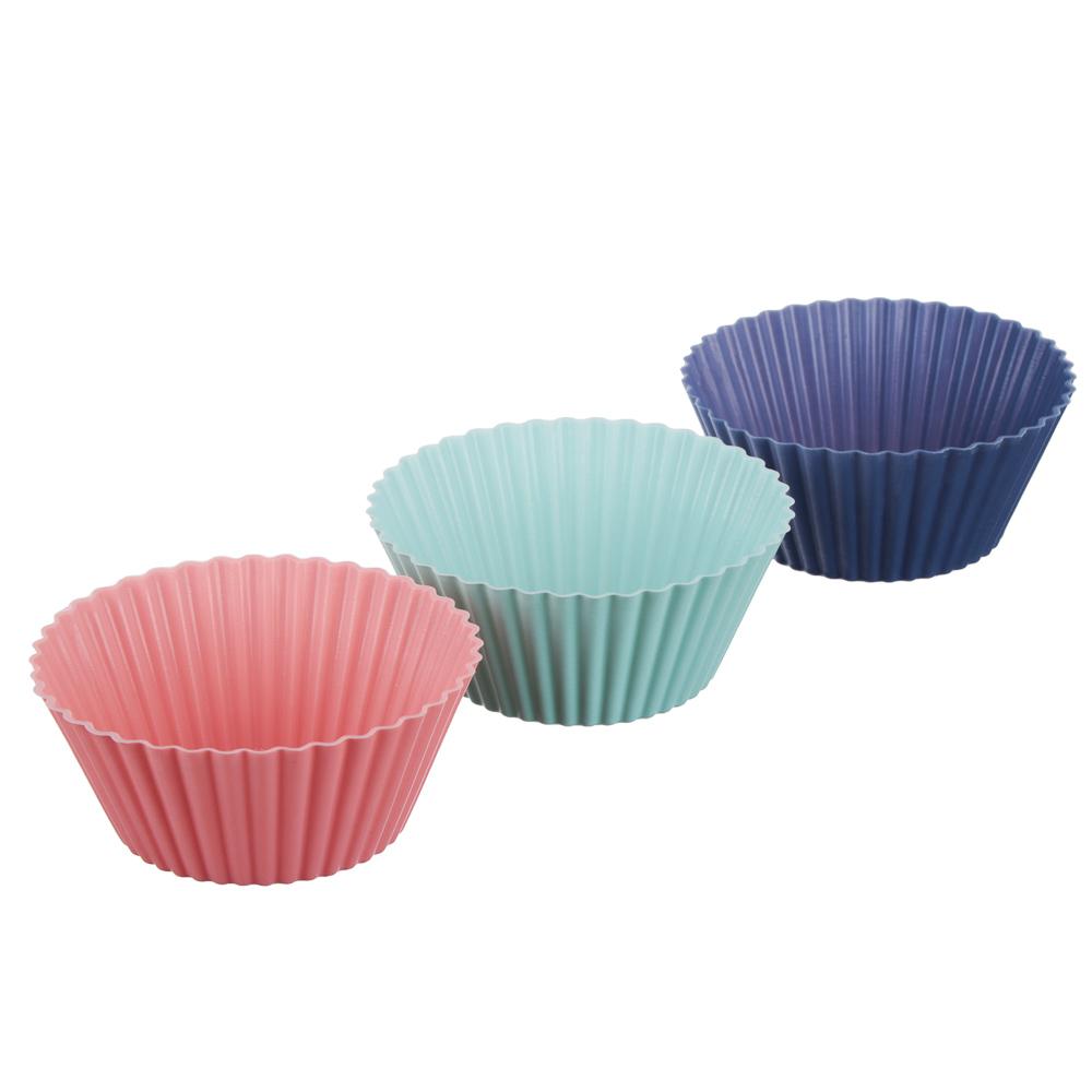 Набор форм для выпечки VETTA Кекс, 16 шт, 6.5x3,3 см, силикон - 4