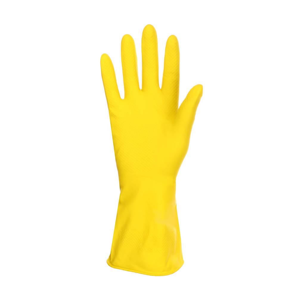 Перчатки резиновые желтые, L, VETTA - 2